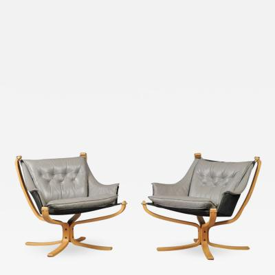Sigurd Ressell A Pair of Falcon Armchairs by Sigurd Ressel