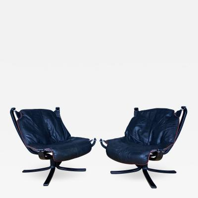 Sigurd Ressell Black and Red Falcon Chair Sigurd Ressell Vatne M bler