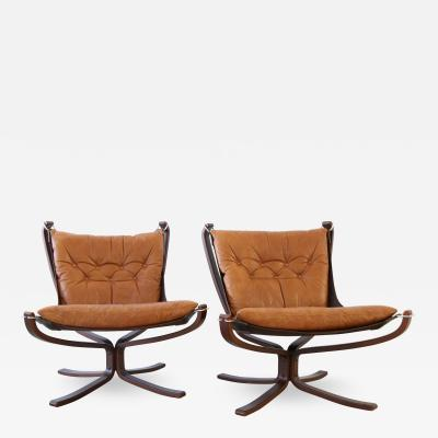 Sigurd Ressell Pair Falcon Lounge Chairs for Vatne