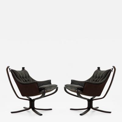 Sigurd Ressell Pair of Falcon Chairs