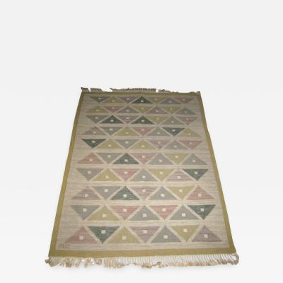 Sigvard Bernadotte Handwoven Flat Weave Carpet by Sigvard Bernadotte