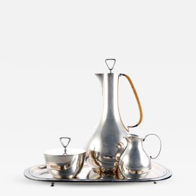 Sigvard Bernadotte Rare Sterling Silver Coffee Service by Sigvard Bernadotte for Georg Jensen