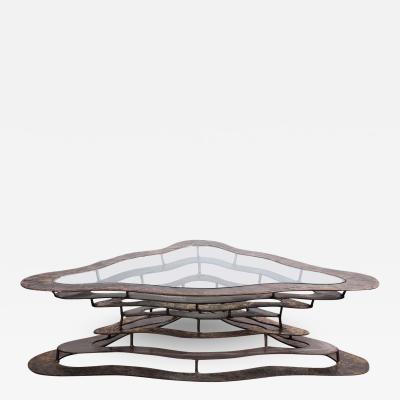 Silas Seandel Bronze and Steel Volcano Coffee Table by Silas Seandel