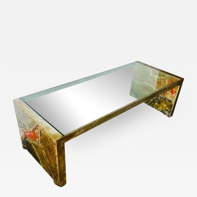 Silas Seandel EXCEPTIONAL SILAS SEANDEL PATCHWORK METALS COFFEE TABLE
