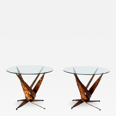 Silas Seandel Exceptional Pair of Brutalist Side Tables by Silas Seandel