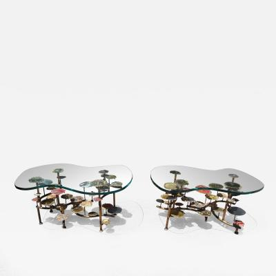 Silas Seandel Pair of Sunspots Coffee Tables by Silas Seandel