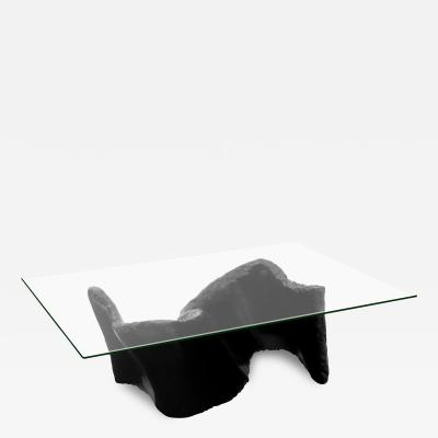 Silas Seandel Sculptural Fiberglass Coffee Table with Glass Top by Silas Seandel