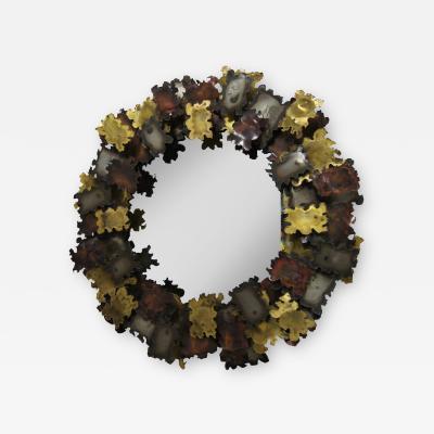 Silas Seandel Sculptural Mirror Attributed to Silas Seandel