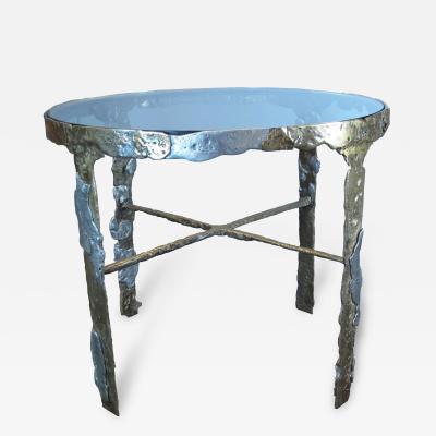 Silas Seandel Silas Seandel Brass and Aluminum Center Table