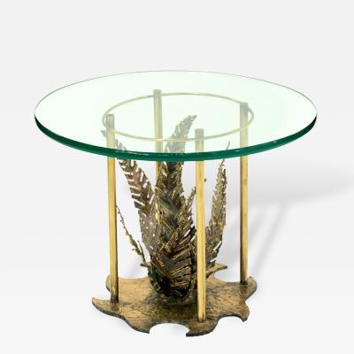 Silas Seandel Studio Made Bronze Table with Fern by Silas Seandel