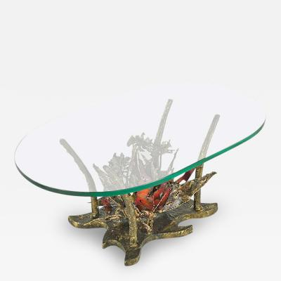 Silas Seandel Studio Sculptural Bronze Coffee Table Silas Seandel