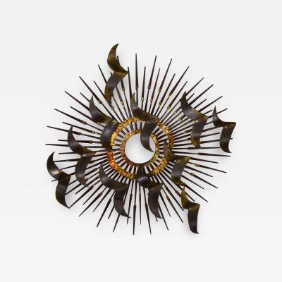 Silas Seandel Torch cut brass birds on starburst nail wall art style silas seandel