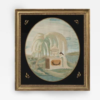Silk Embroidered Memorial to George Torrey Scituate Massachusetts circa 1815