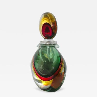 Silvano Signoretto Silvano Signoretto Rare Ovoid Murano Glass Large Sized Bottle