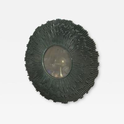 Silvano Taiuti Rare Round Mirror in Ceramic