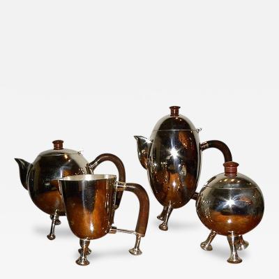 Silver Art Deco Mid Century Tea Coffee Service Set