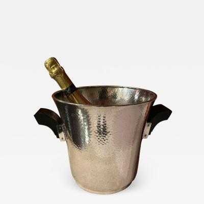 Silver Champagne Cooler with Ebony Black Handles