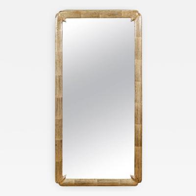 Silver Leaf Framed Mirror