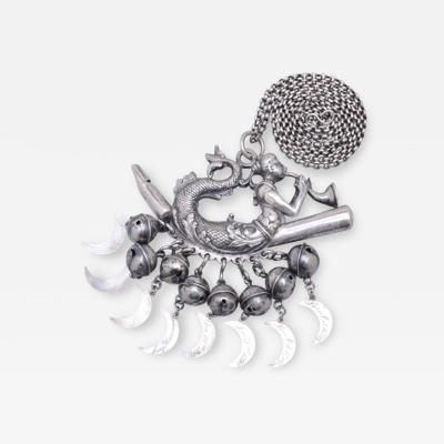 Silver Mermaid Whistle Rattle