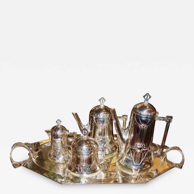 Silver Tea Coffee Set WMF Art Nouveau with Tray