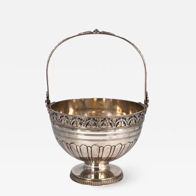 Silver on Copper Basket England Circa Late 19th Century