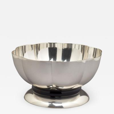 Silvered Bowl by Orfevrerie Gallia France 1930s