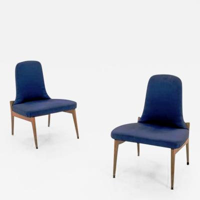 Silvio Cavatorta 1950s Pair of Side Chairs by Silvio Cavatorta