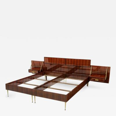 Silvio Cavatorta Silvio Cavatorta Bed with Floating Nightstands