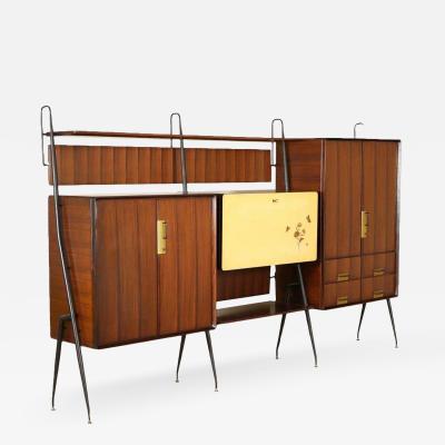 Silvio Cavatorta Silvio Cavatorta Mid Century Modern Teak Sideboard Bookcase circa 1960