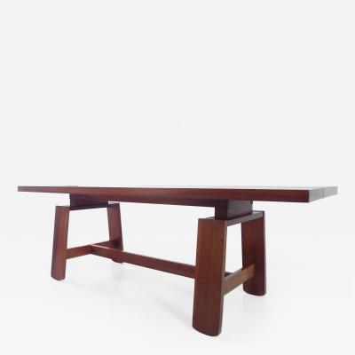 Silvio Coppola Large Mahogany Dining Table by Silvio Coppola Bernini Italy 1964