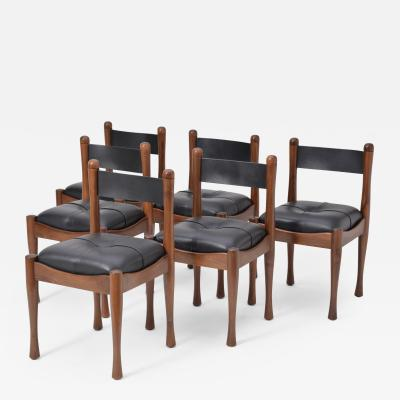 Silvio Coppola Set of six Italian Dining Chairs by Silvio Coppola for Bernini