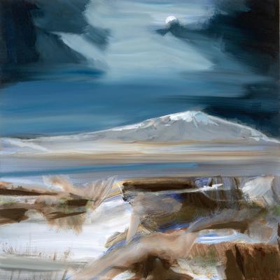 Simon Andrew Moon and Mountain