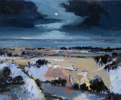 Simon Andrew Moon between Clouds