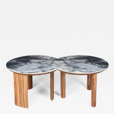 Simon Ch reau Atelier QDA Pair of Echo coffee tables 2018 limited edition by QDA