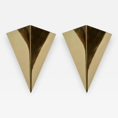 Simple Cones Brass Wall Sconces