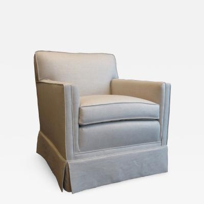 Single Armchair in Natural Linen