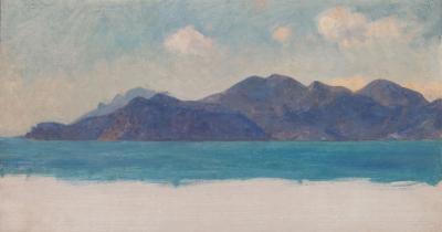 Sir Ernest Albert Waterlow A Mediterranean Coastal Study