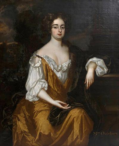 Sir Godfrey Kneller 18th Century English Portrait of Mrs Overbury Circle of Sir Godfrey Kneller