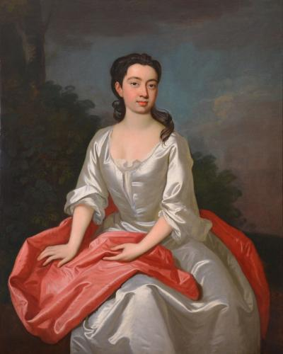 Sir Godfrey Kneller Portrait of Isabella Marshall Very Large 18th Century Georgian Oil Painting