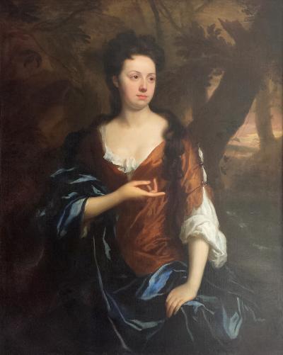 Sir Godfrey Kneller Portrait of Mrs Fisher of Packerton Warwick