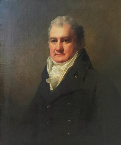 Sir Henry Raeburn Raeburn Half Length Portrait of Mr Robertson