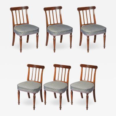 Sir John Soane Set of Six 19th Century English Georgian Mahogany Dining Chairs
