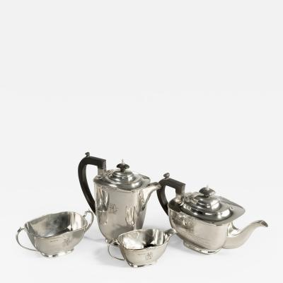 Sir Stanley Mathews four piece silver tea set