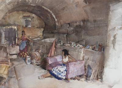 Sir William Russell Flint A Provenc al Vault