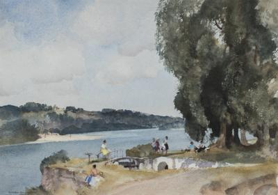 Sir William Russell Flint Holiday on the Loire