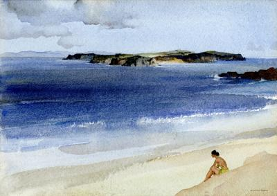 Sir William Russell Flint Islands off the Pembrokeshire Coast