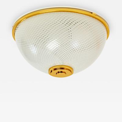 Six Ceiling Lights with Reticello Glass by Venini