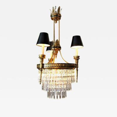 Six Light Louis XVI Style Chandelier