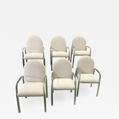 Six Lucite Dining Chairs