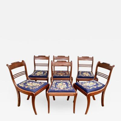 Six Philadelphia Klismos Dining Chairs